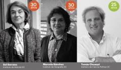 Tres académicos de nuestra Facultad recibieron reconocimiento por sus años de servicio en la UC